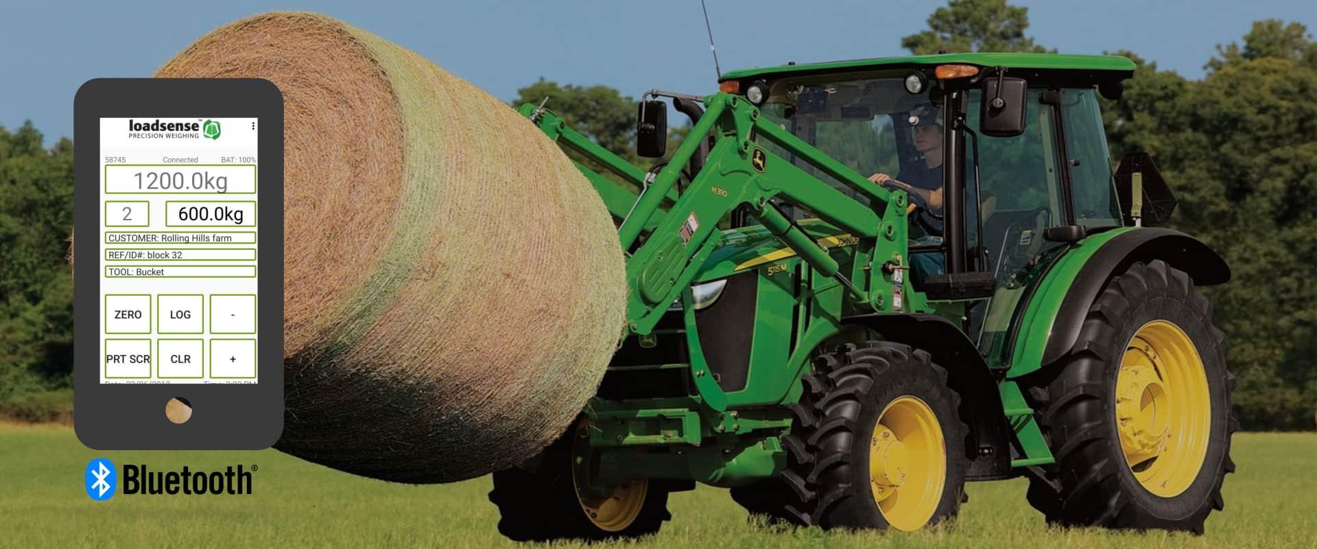 loadsense bluetooth tractor scale low cost worldwide